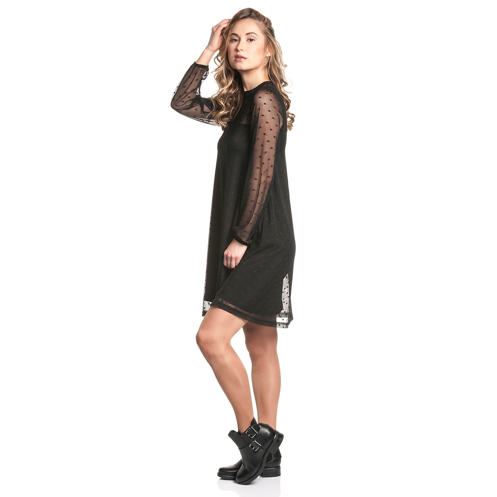 Pussy Deluxe A-Linien-Kleid »Black Dots«