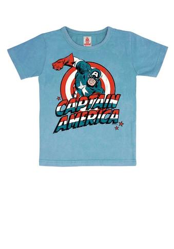 LOGOSHIRT Print-Shirt »Captain America«, mit lizenziertem Originaldesign kaufen