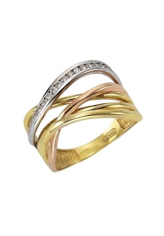 Fascination by Ellen K. Fingerring »333/- Gelbgold 3-farbig Zirkonia«, Ring kaufen