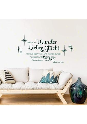 Wall-Art Wandtattoo »Liebe und Glück Leuchtbild« kaufen