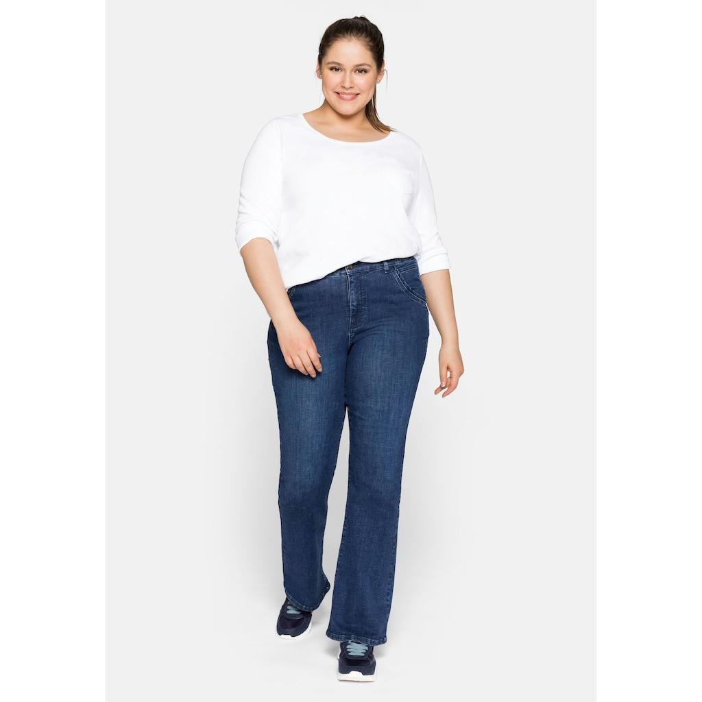 Sheego Bootcut-Jeans, in elastischer Denim-Qualität