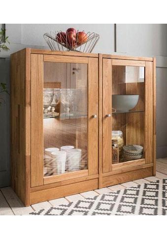 Premium collection by Home affaire Standvitrine »Ecko«, aus schönem massivem... kaufen