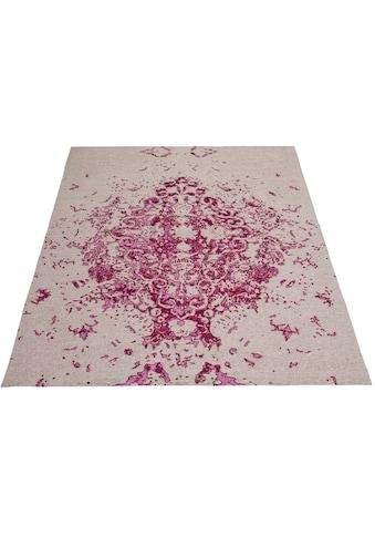 DELAVITA Teppich »Dora«, rechteckig, 10 mm Höhe, Vintage -Otpik, Wohnzimmer kaufen