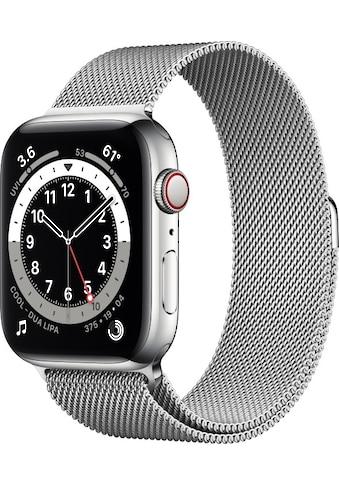 Apple Smartwatch »Series 6, GPS + Cellular, Edelstahl-Gehäuse, 44 mm mit... kaufen