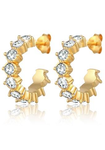 Elli Paar Creolen »Ohrringe Creolen, 0301312720«, mit Kristallen kaufen