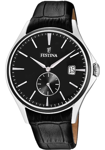 Festina Quarzuhr »Lederband Klassisch, F16980/D« kaufen
