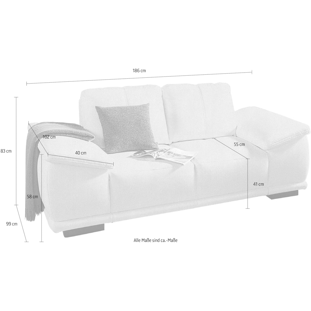 sit&more 2,5-Sitzer, mit extrabreiten Armlehnen