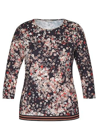 Rabe Rundhalsshirt, mit geometrischem Muster und Glitzergarn kaufen