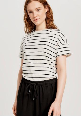 OPUS T-Shirt »Sileika«, mit Kellerfalte kaufen