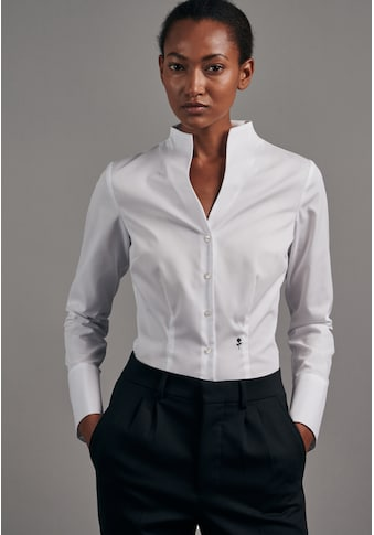 seidensticker Klassische Bluse »Schwarze Rose«, Langarm Kragen Uni kaufen