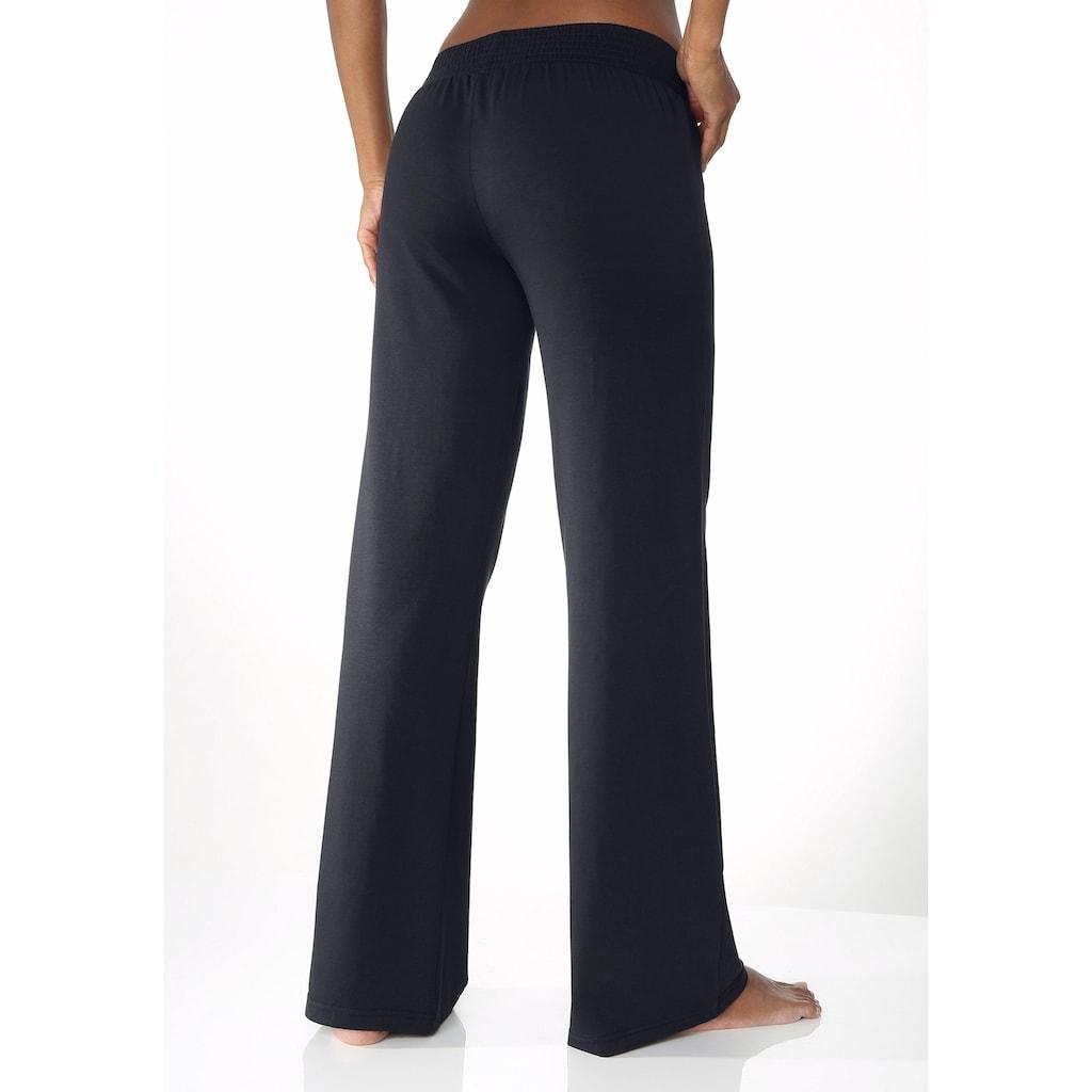 LASCANA Homewearhose, mit weitem Bein