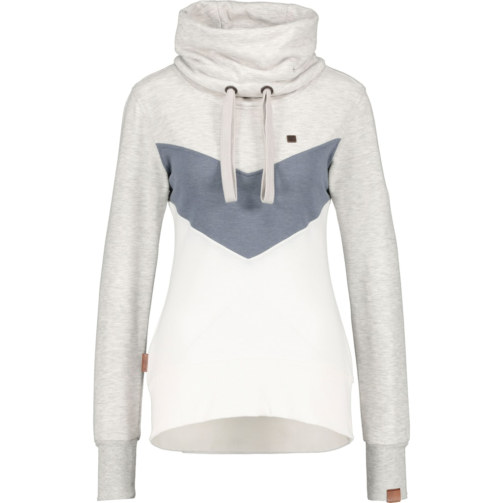 Alife & Kickin Sweatshirt »SunshineAK«, sportive Jacke mit hohem Kuschel-Stehkragen