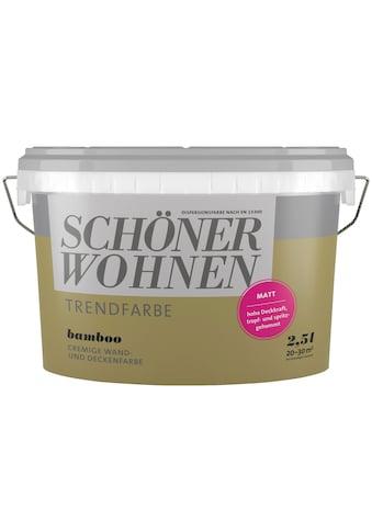 SCHÖNER WOHNEN-Kollektion Wand- und Deckenfarbe »Trendfarbe Bamboo, matt«, 2,5 l kaufen