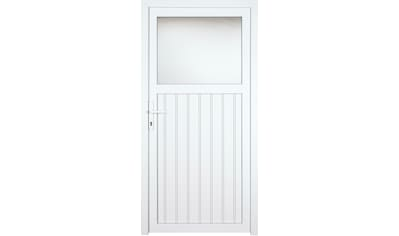 KM Zaun Nebeneingangstür »K605P«, BxH: 98x208 cm cm, weiß, links kaufen