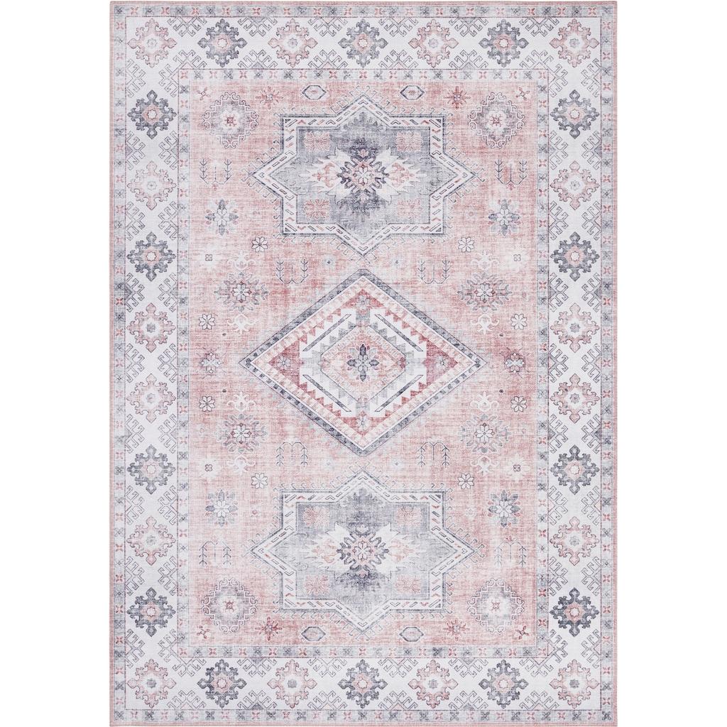 NOURISTAN Teppich »Gratia«, rechteckig, 5 mm Höhe, Vintage Design, Orient-Optik, Wohnzimmer