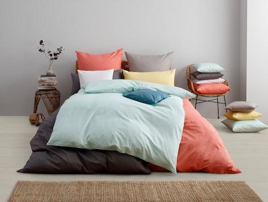 nachhaltig produzierte Bettwäsche aus Bio-Baumwolle in trendigen Farben