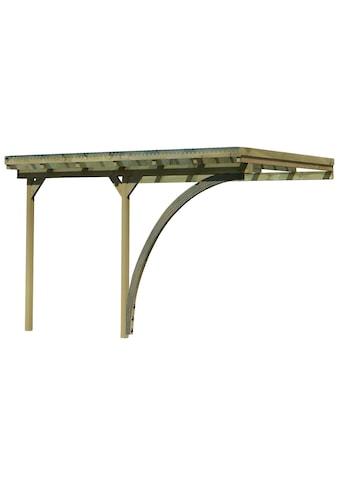 Karibu Anlehncarport »Eco 2«, Holz, 324 cm, braun kaufen