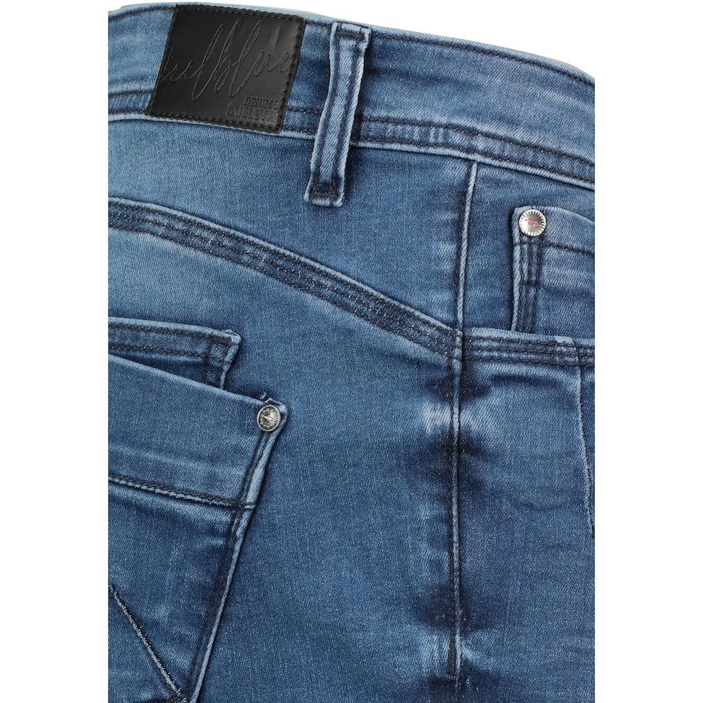 SUBLEVEL Jeansbermudas, mit Knopfleiste