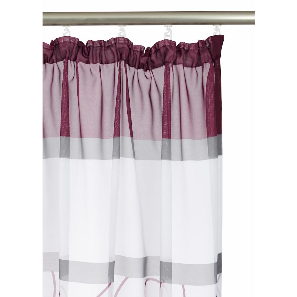 my home Gardine »Napala«, Vorhang, Fertiggardine, transparent
