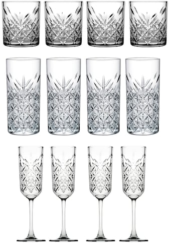 van Well Gläser-Set »Timeless«, (Set, 12 tlg.), Strukturglas kaufen