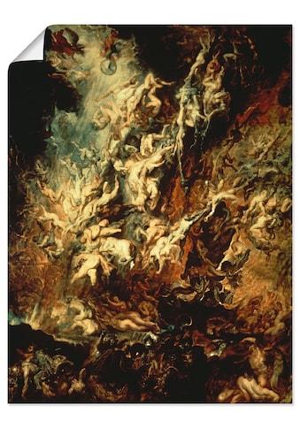 Artland Wandbild »Höllensturz der Verdammten«, Dark Fantasy, (1 St.), in vielen Größen... kaufen