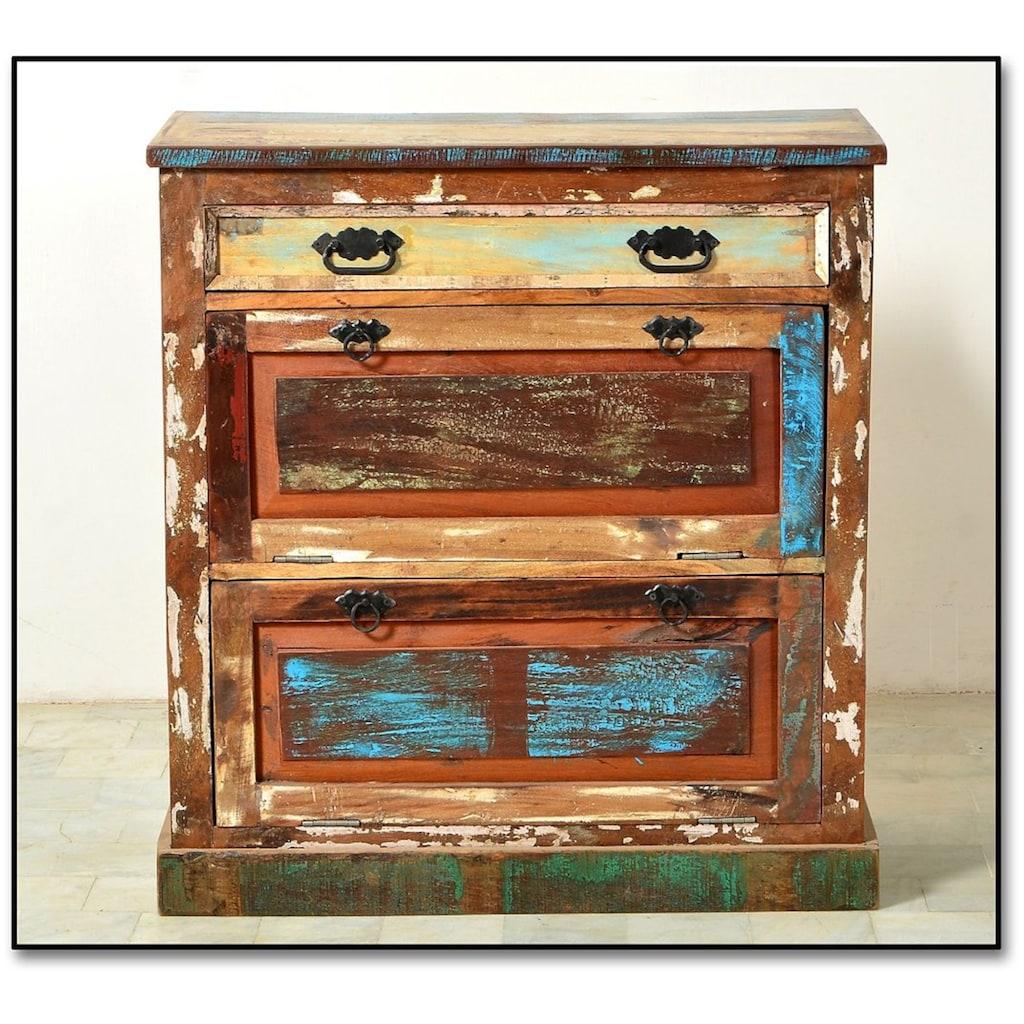 SIT Schuhkommode »Riverboat«, aus recyceltem Altholz, Shabby Chic, Vintage