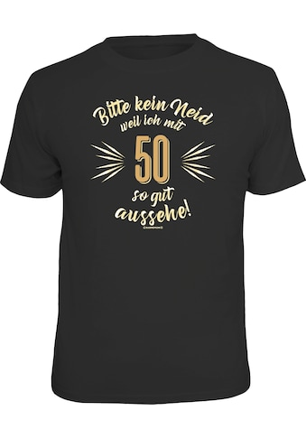 Rahmenlos T-Shirt mit coolem Front-Print kaufen