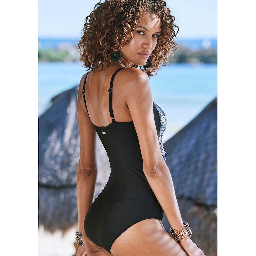 LASCANA Badeanzug »Reese«, mit Palmendruck