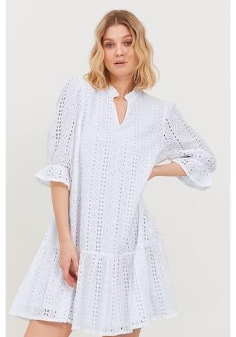 b.young Blusenkleid »b.young Blusenkleid mit Lochstickerei«, lockeres Sommerkleid kaufen