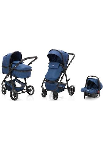 Fillikid Kombi-Kinderwagen »Panther, blau/melange«, 22 kg, mit Babyschale; Kinderwagen kaufen