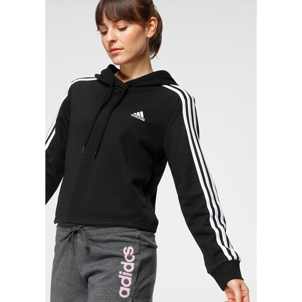 adidas Performance Kapuzensweatshirt »ESSENTIALS CROP HOODIE«