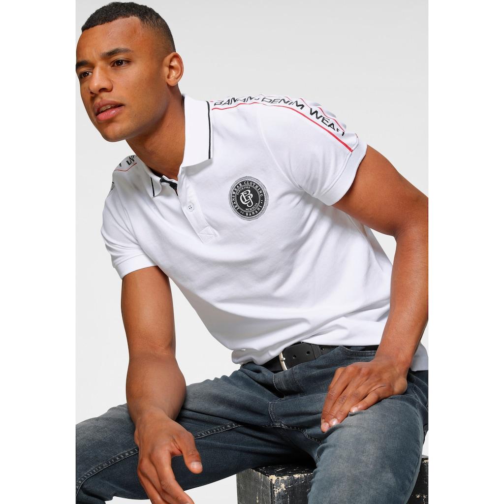 Bruno Banani Poloshirt, in Piqué-Qualität