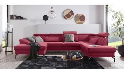sit&more Wohnlandschaft, inklusive Sitztiefenverstellung, wahlweise mit Kopf- und Armteilverstellung kaufen