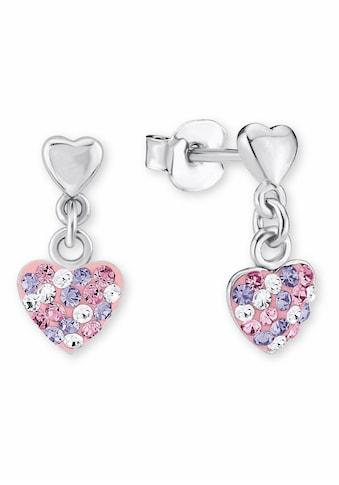 Prinzessin Lillifee Paar Ohrstecker »Herz, 2013169«, mit Kristallsteinen kaufen