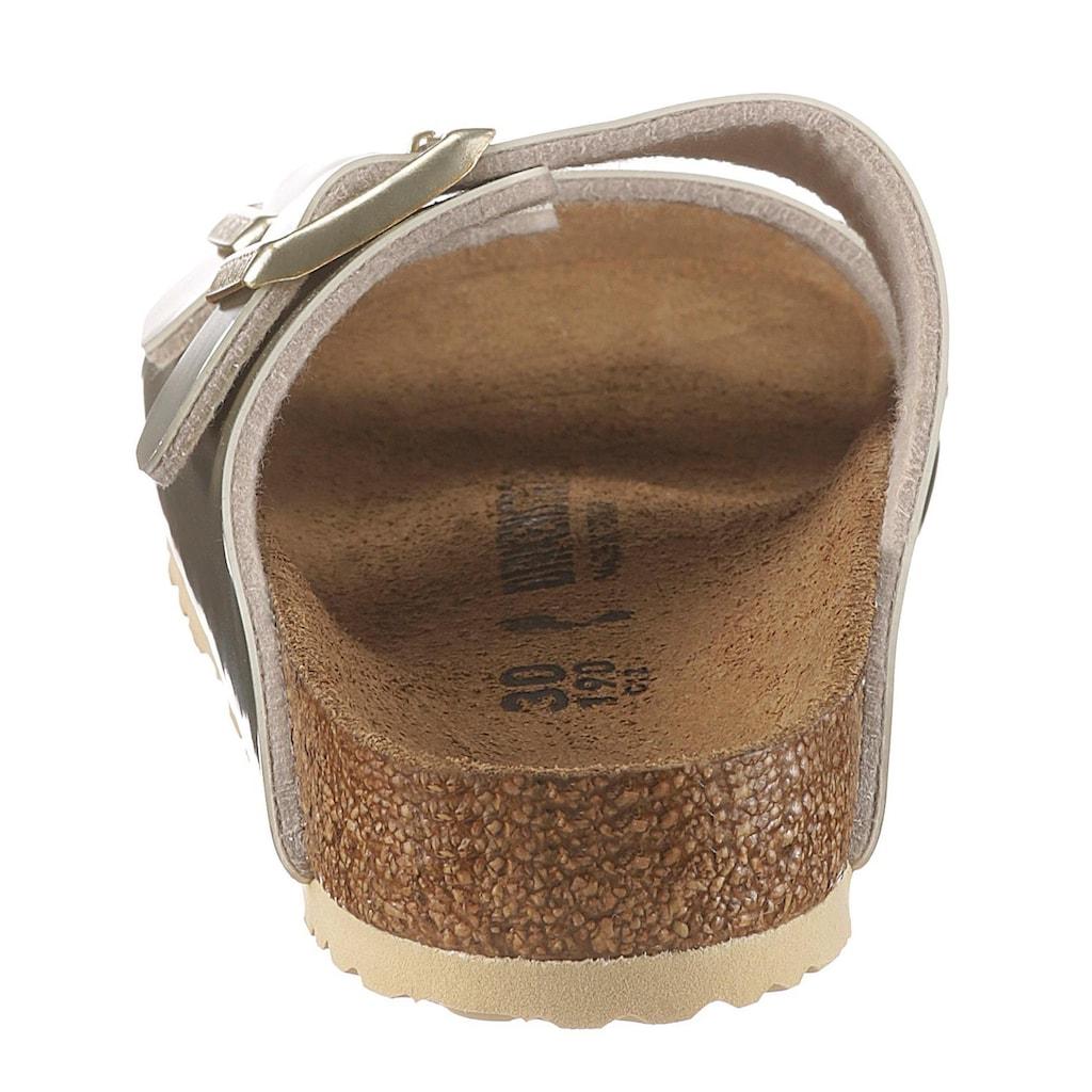 Birkenstock Pantolette »Arizona Electric metallic«, mit verstellbaren Schnallen