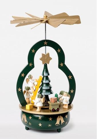 HGD Holz - Glas - Design Spieluhr Engel am Tannenbaum kaufen