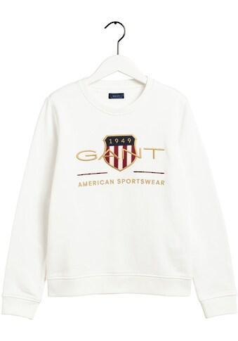 Gant Sweater, mit Shield und goldfarbener Logo- Stickerei kaufen