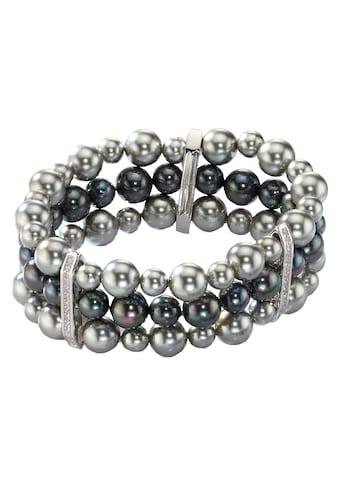 CELESTA Perlenarmband »925/- Sterling Silber rhodiniert Perlen« kaufen