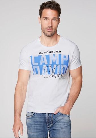 CAMP DAVID T-Shirt, mit großem Logofrontprint kaufen