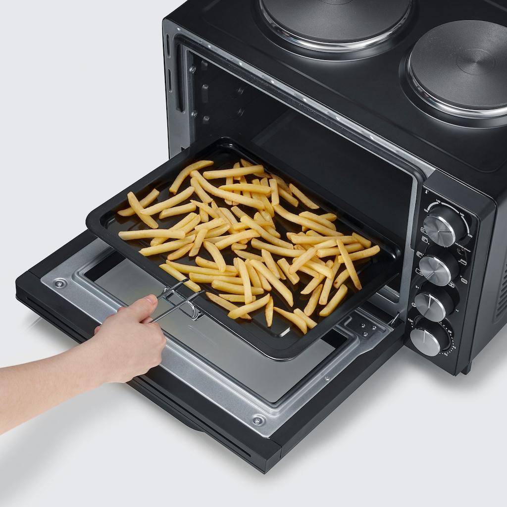 Severin Multiofen »Minibackofen, Kleinküche, Back- und Toastofen«, 2500 W, mit Kochplatten TO 2065