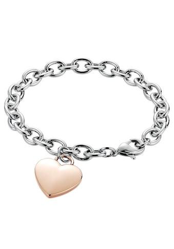 Firetti Armband »Herz, Bicolor-Optik« kaufen