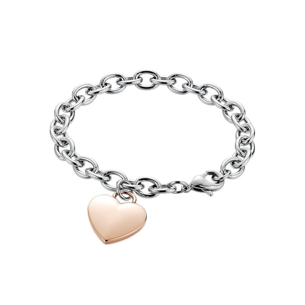 Firetti Armband »Herz, Bicolor-Optik«