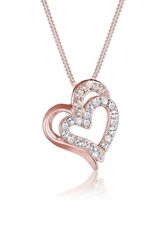 Elli Collierkettchen »Herz Funkeln Kristalle 925 Silber« kaufen