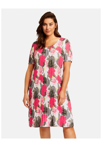 Samoon Kleid Langarm kurz »Plisséekleid mit Blumen - Print« kaufen