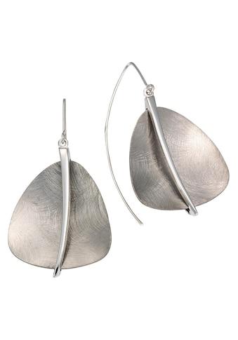 Firetti Paar Ohrhaken »rhodiniert, grau, eismatt« kaufen