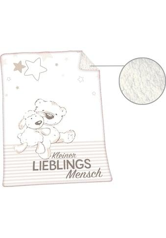Herding Babydecke »Jonas Lieblingsmensch«, mit niedlichem Motiv kaufen