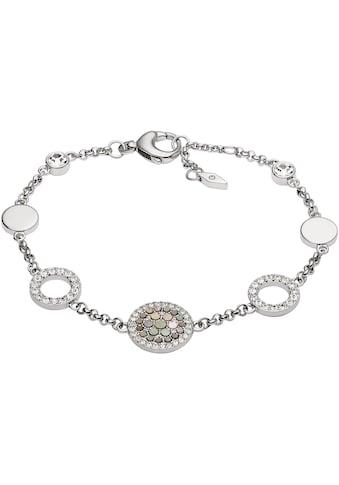 Fossil Armband »Vintage Glitz, JF02311040«, mit Perlmutt und Glassteinen kaufen