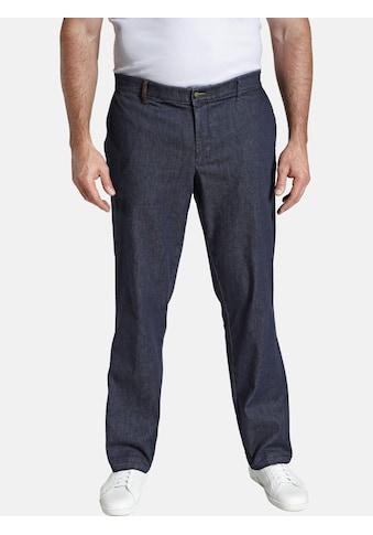 Charles Colby Stretch-Jeans »BARON LEROY«, mit Elementen in Lederoptik kaufen