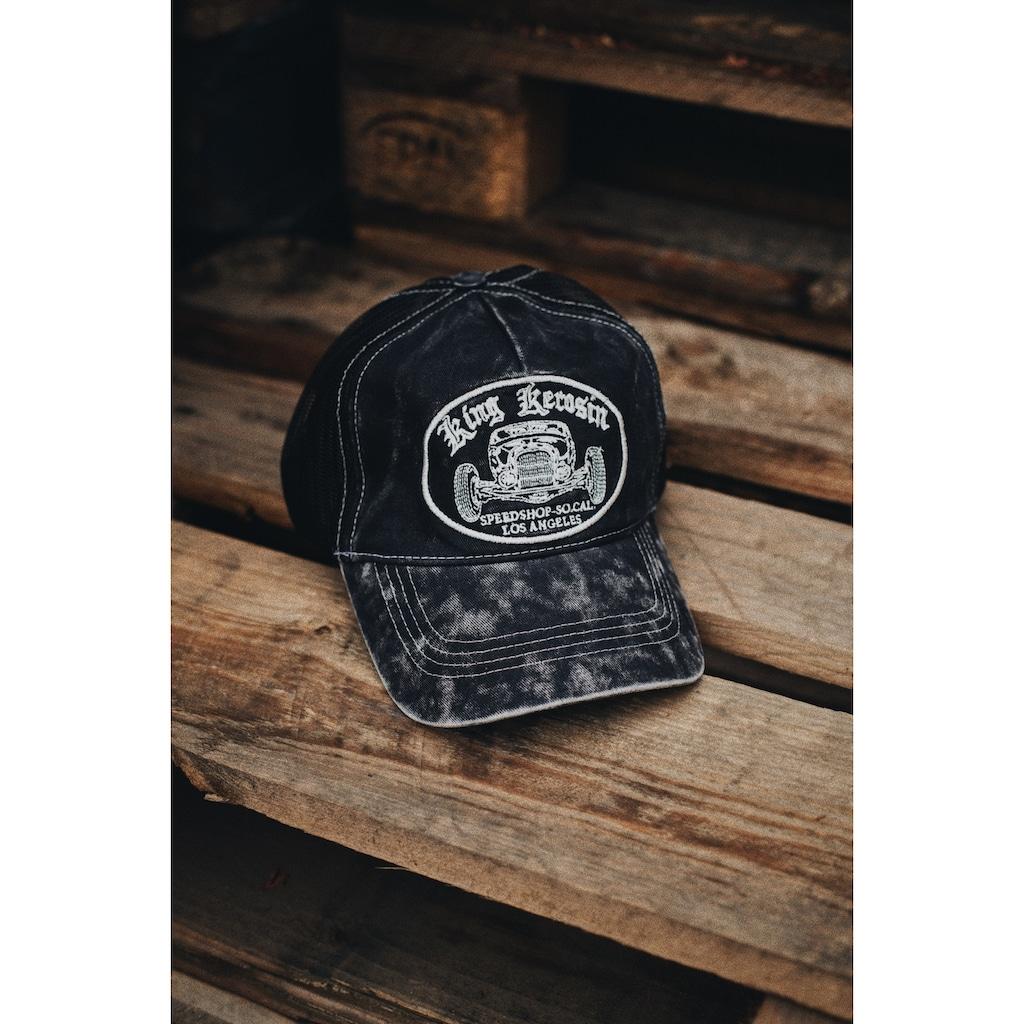 KingKerosin Trucker Cap »Speedshop SoCal«, mit Stickerei in der Front und Enzymwash