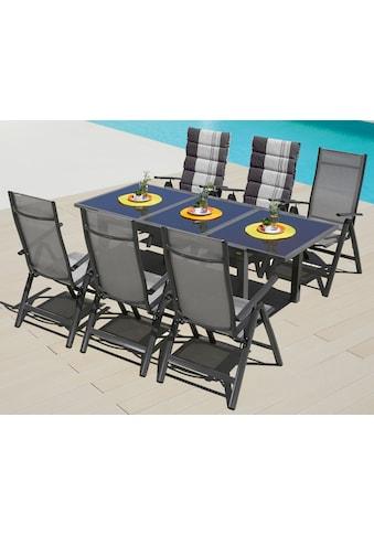 MERXX Gartenmöbelset »Amalfi«, (7 tlg.), 6 Stühle mit Tisch kaufen
